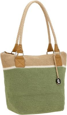 The Sak Cambria Crochet Large Tote Bag Julep Block - via eBags.com!