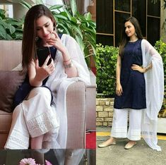Gorgeous on Eid 😍 Stylish Dresses, Simple Dresses, Casual Dresses, Pakistani Dresses Casual, Pakistani Dress Design, Indian Attire, Indian Outfits, Indian Dresses, Indian Wear