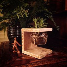 Reclaimed wood mason jar C-planter by BranwoodDesigns on Etsy $27.50