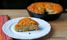 """Gourmet Girl Cooks: Cheddar Green Chile """"Cornbread"""" - Low Carb & Grain Free"""