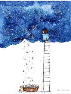 Let S Go Get Some Stars Photographic Print Let S Go Get Some Stars Photographic Print Photographic Print Hand Drawn Ink Watercolor Design Millions Of Unique Designs By Independent Artists Find Your Thing Painting & Drawing, Watercolor Paintings, Drawing Drawing, Drawing Ideas, Star Painting, Hope Painting, Watercolour Drawings, Dream Drawing, Owl Paintings
