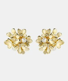 Gold Nikki Stud Earrings