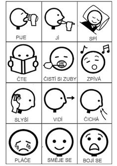 Pro Šíšu: Komunikační obrázky Preschool Themes, Activities For Kids, Work Hard, Language, Teaching, Education, Spanish, Speech Language Therapy, Learning