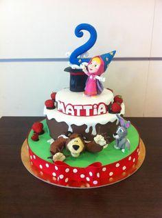 Masha and the Bear, magic cake  - Cake by simonelopezartist
