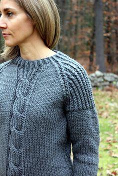 Ravelry: Gray Saturday Sweater pattern by Laura Reinbach