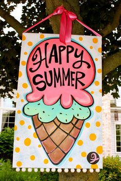 Summer Banner. Buy one at www.lisafroststudio.com