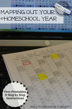 Planning your homeschool year with free printables