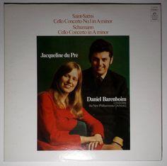 JACQUELINE DU PRE / BARENBOIM Saint-Saens, Schumann ANGEL RECORDS S-36642 NM #Concerto