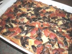 Eggplant, Potato and Mushroom Bake - yummy rustic dish with lots of nutrition.   For more easy recipes see www.cheap-and-easy-recipes.com