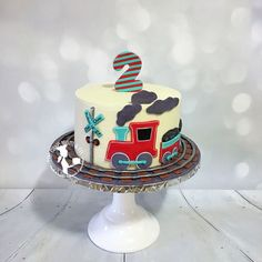 train cake For Boys - Choo Choo Aiden is Train Birthday Party Cake, 2nd Birthday Cake Boy, Second Birthday Boys, Toddler Birthday Cakes, 2nd Birthday Party Themes, Train Party, Birthday Ideas, Themed Cakes, Travel Cake