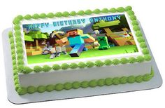 MINECRAFT Characters 2 Edible Birthday Cake Topper OR Cupcake Topper, Decor - Want to surprise your special someone on his/her birthday? How about choosing a personalized cake topper to reflect your emotions! Well, trust to get you the best. Bolo Minecraft, Minecraft Birthday Cake, Minecraft Party, 7th Birthday, Minecraft Ideas, Birthday Ideas, Edible Cake Toppers, Birthday Cake Toppers, Cupcake Toppers