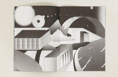 Illustrator Nicolas Nadé has created this neat little monochrome book called _Nobu_. Named after Shirase Nobu, who led Japan's first polar exhibition, the book is an imaginary exploration of the antarctic.