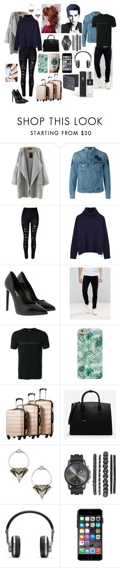 """to infinity and beyond."" by tgrr ❤ liked on Polyvore featuring Emporio Armani, WithChic, Ille De Cocos, Yves Saint Laurent, Levi's, Giorgio Armani, CHARLES & KEITH, DANNIJO, Master & Dynamic and Off-White"