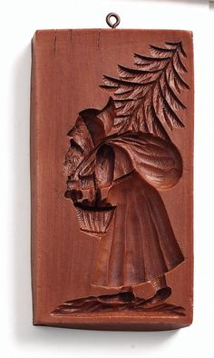 """""""Santa with Bag of Toys"""" ~ Springerle Mold Chip Carving, Wood Carving, Cool Things To Make, Old Things, Lovely Things, Springerle Cookies, Sugar Mold, Butter Molds, Candy Molds"""