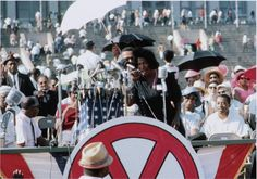 """""""Mahalia Jackson at Chicago Freedom Movement Rally"""" Collection of the Smithsonian National Museum of African American History and Culture, Gift of Bernard J. Kleina and Susan Keleher Kleina"""