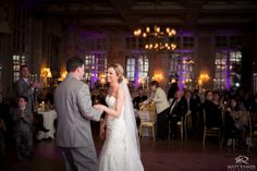 Wedding Day | Franklin Plaza Reception | First Dance | Purple Uplighting © Matt Ramos Photography