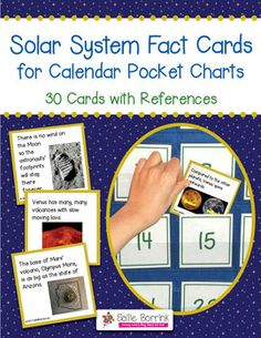 Solar System Fact Cards for Calendar Pocket Charts – Unit Extension Activity Teaching 5th Grade, Student Teaching, Teaching Science, Science Activities, Science Ideas, Teaching Tools, Space Theme Classroom, Classroom Calendar, Classroom Ideas