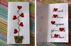 cartes fête des mères made by Mamzelle Mothers Day Cards, Valentine Day Cards, Valentine Crafts, Valentines, Diy For Kids, Crafts For Kids, Mather Day, Diy And Crafts, Paper Crafts