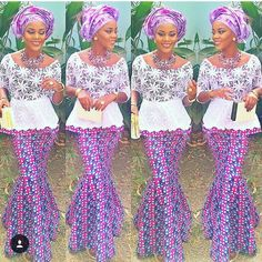 Ankara Skirt and Blouse with Lace - http://www.dezangozone.com/2016/01/ankara-skirt-and-blouse-with-lace.html DeZango Fashion Zone
