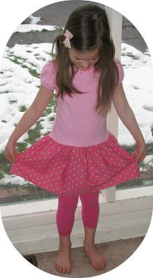 Fun and easy t-shirt dress for girls