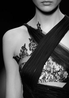 black lace + draping