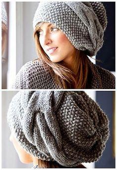 bonnet en crochet, bonnet au tricot long