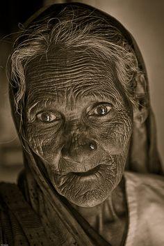 elderly woman - Varanasi, India by Phil Marion, via Flickr