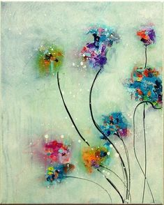 Image result for abstract flower painting