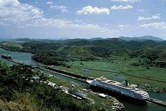 Cruising the Panama Canal on Holland America.