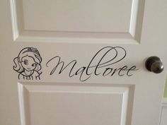 Sofia the First with Personalized Girls Name Door by VinylMyWalls, $10.00