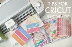 five sixteenths blog: Tips for Cricut Explore Print then Cut // Making Stickers