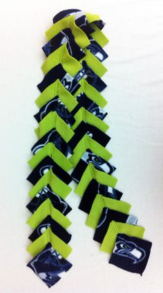 DIY Seahawks Layered Squares Scarf, however I would like either Detroit or Notre Dame!