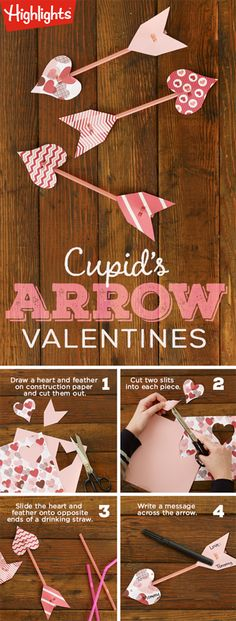 Make Cupid's-Arrow Valentines - A Valentine's Day craft for kids