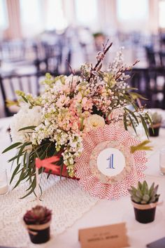 Fun table number ~ Photography by saraandrocky.com, Floral Design by bluelotusgardens.com