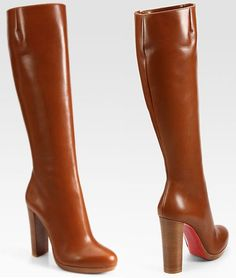 """27b67a50b7a3 Christian Louboutin """"Mirabelle"""" Leather Boots ..."""
