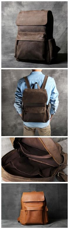 Handmade Antique Leather Backpack/ School Backpack