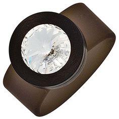 """Dreambase Damen-Ring """"Swarovski"""" PVC grau mit Edelstahl k... https://www.amazon.de/dp/B00N5BVZ3W/?m=A37R2BYHN7XPNV"""