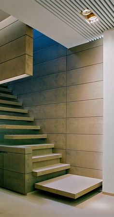 Stairs as mass. interieurarchitect Frederic Kielemoes. I wish they could reference the houses so we know where they are?
