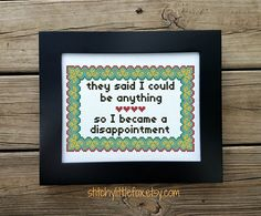 Funny Quote Cross Stitch Pattern Subversive Stitch Modern