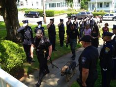 Officers salute their loyal K9 till the very end, on his last trip to the vet