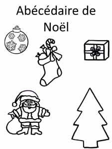 fiche sur un abécédaire sur le thème de Noël