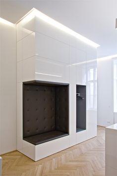 Rechtsanwaltskanzlei HLMK | Büro | Projekte | BWM Architekten Condo Design, Closet Design, Home Room Design, Home Building Design, Interior, Bedroom Closet Design, Entry Closet, Hallway Furniture, House Interior