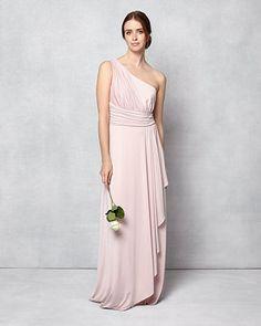 49959f596c5 Phase Eight Saffron One Shoulder Full Length Dress Pink Pink Bridesmaid  Dresses