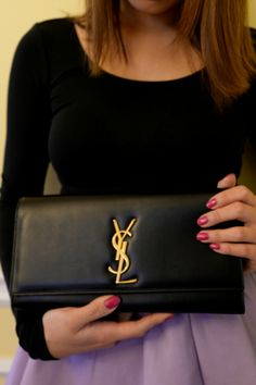 How to Wear: YSL Clutch #LinhsStyle More: http://designerswap.ca/outfit-of-the-day-featuring-ysl-clutch/