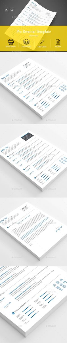 Resume - Resumes Stationery Download here: https://graphicriver.net/item/resume/19603889?ref=classicdesignp