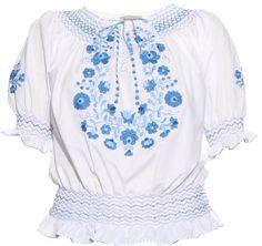 MUZUNGU SISTERS Dora embroidered cotton top