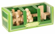 Brain Busting 3 Classic Wood Set Puzzles. The perfect gift for someone who wants to test their nerve and dexterity -These puzzles are very challenging and offer hours of fun individually or with friends and family. Although these puzzles may cause frustration and mental exhaustion the sense of achievement in solving a puzzle cannot be underestimated!