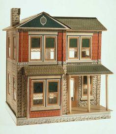 antique dollhouse, simple style.  Rick Maccione-Dollhouse Builder www.dollhousemansions.com