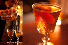Martinez Cocktail - orange bitters, Luxardo Maraschino Liqueur, sweet vermouth, Old Tom Gin.