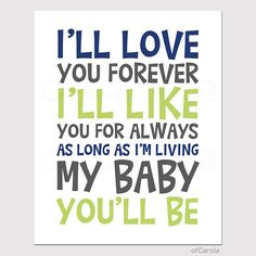 Baby Nursery Love Quote Wall Art Print PERSONALIZED  by ofCarola, $15.00